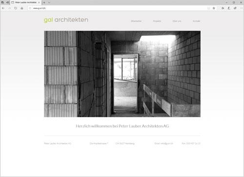 Webseite GAL Architekten Heimberg