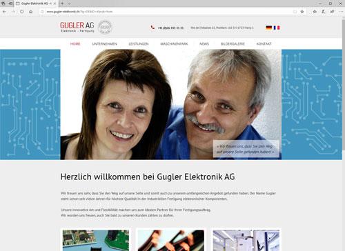 Gugler Elektronik Webauftritt