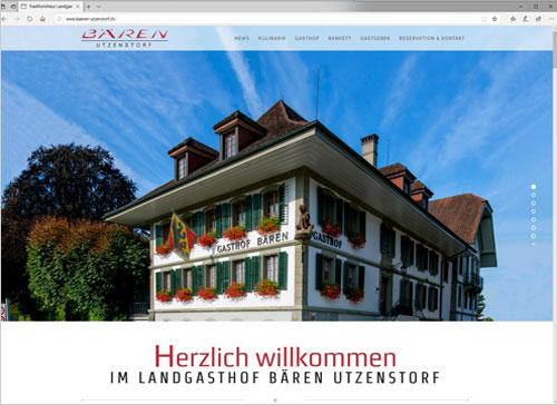 Neue Webseite des Landgasthof Bären in Utzenstorf