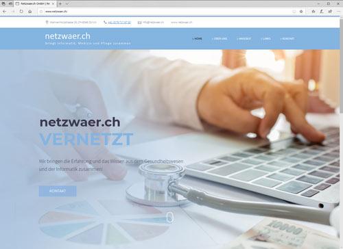 Webdesign für die netzwaer.ch GmbH