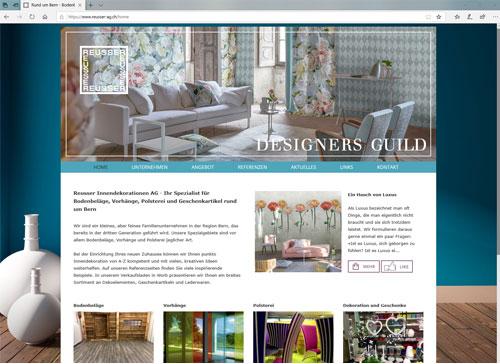 Erstellung und Pflege der Webseite Reusser Ruefenacht Innendekorationen