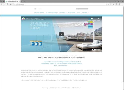 Internetauftritt für die Schmid Storen AG in Münchenbuchsee