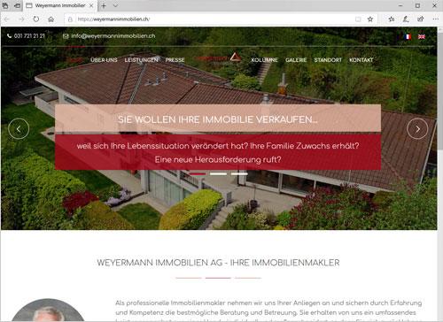Webseite für Weyermann Immobilien