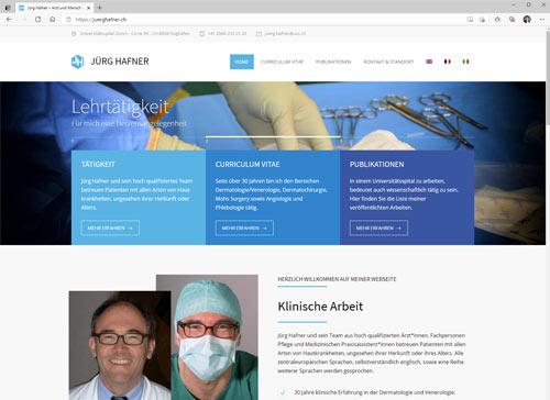 Prof. Dr. med. Jürg Hafner - persönliche Webseite